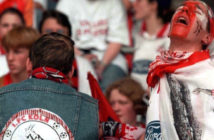 GERMANY - MAY 09: FUSSBALL: 1. BUNDESLIGA 97/98 09.05.98, KOELN - BAYER LEVERKUSEN 2:2, Abstieg in die 2. Liga - FANS KOELN (