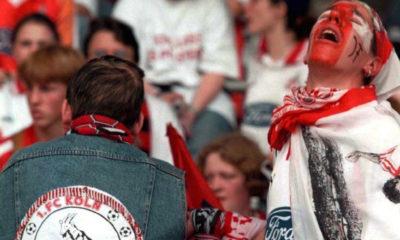 GERMANY - MAY 09: FUSSBALL: 1. BUNDESLIGA 97/98 09.05.98, KOELN - BAYER LEVERKUSEN 2:2, Abstieg in die 2. Liga - FANS KOELN (