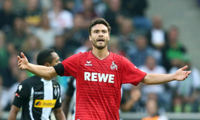 MOENCHENGLADBACH, GERMANY - AUGUST 20: Jonas Hector of Koeln during the Bundesliga match between Borussia Moenchengladbach and 1. FC Koeln at Borussia-Park on August 20, 2017 in Moenchengladbach, Germany. (Photo by Christof Koepsel/Bongarts/Getty Images)