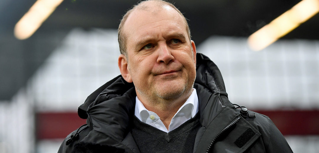 FREIBURG IM BREISGAU, GERMANY - FEBRUARY 12: Manager Joerg Schmadtke of Koeln is seen during the Bundesliga match between SC Freiburg and 1. FC Koeln at Schwarzwald-Stadion on February 12, 2017 in Freiburg im Breisgau, Germany. (Photo by Matthias Hangst/Bongarts/Getty Images)