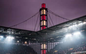 COLOGNE, GERMANY - DECEMBER 10: General view of the stadium during the Bundesliga match between 1. FC Koeln and Borussia Dortmund at RheinEnergieStadion on December 10, 2016 in Cologne, Germany. (Photo by Lukas Schulze/Bongarts/Getty Images)