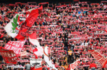 COLOGNE, GERMANY - OCTOBER 22: fans of FC Koeln show their support during the Bundesliga match between 1. FC Koeln and SV Werder Bremen held at RheinEnergieStadion on October 22, 2017 in Cologne, Germany. (Photo by Dean Mouhtaropoulos/Bongarts/Getty Images)