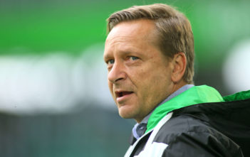 WOLFSBURG, GERMANY - SEPTEMBER 09: team manager Horst Heldt of Hannover 96 looks on prior to the Bundesliga match between VfL Wolfsburg and Hannover 96 at Volkswagen Arena on September 9, 2017 in Wolfsburg, Germany.