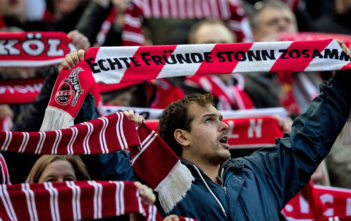 COLOGNE, GERMANY - JANUARY 27: Fans of 1. FC Koeln prior the Bundesliga match between 1. FC Koeln and FC Augsburg at RheinEnergieStadion on January 27, 2018 in Cologne, Germany. (Photo by Maja Hitij/Bongarts/Getty Images)