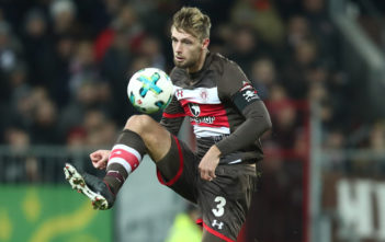 HAMBURG, GERMANY - DECEMBER 18: Lasse Sobiech of Pauli in action during the Second Bundesliga match between FC St. Pauli and VfL Bochum 1848 at Millerntor Stadium on December 18, 2017 in Hamburg, Germany. (Photo by Oliver Hardt/Bongarts/Getty Images)