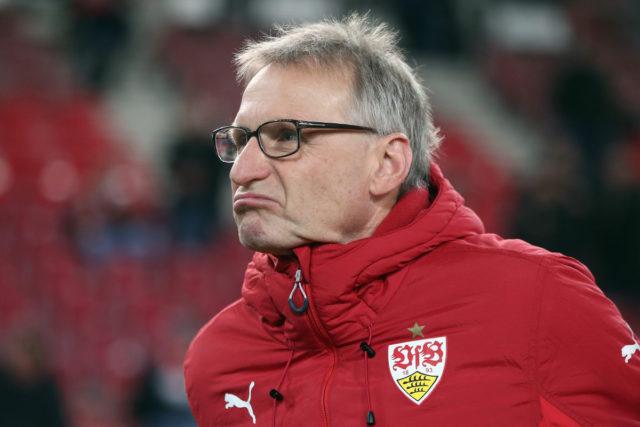 STUTTGART, GERMANY - DECEMBER 08: Michael Reschke looks on prior to the Bundesliga match between VfB Stuttgart and Bayer 04 Leverkusen at Mercedes-Benz Arena on December 8, 2017 in Stuttgart, Germany. (Photo by Alex Grimm/Bongarts/Getty Images)