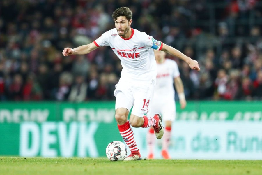 COLOGNE, GERMANY - FEBRUARY 08: Jonas Hector #14 of 1. FC Koeln controls the ball during the Second Bundesliga match between 1. FC Koeln and FC St. Pauli at RheinEnergieStadion on February 08, 2019 in Cologne, Germany. (Photo by Maja Hitij/Bongarts/Getty Images)