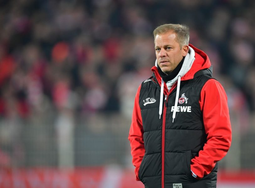 BERLIN, GERMANY - JANUARY 31: Markus Anfang, head coach of Cologne looks on during the Second Bundesliga match between 1. FC Union Berlin and 1. FC Koeln at Stadion An der Alten Foersterei on January 31, 2019 in Berlin, Germany. (Photo by Stuart Franklin/Bongarts/Getty Images)