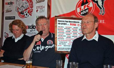 FC-Stammtisch Talk mit Ralf Friedrichs, Tony Woodcock, Alexander Haubrichs, Engelbert Fassbender und Roland Koch