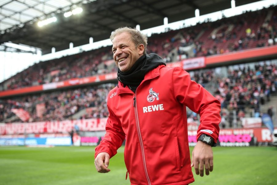 COLOGNE, GERMANY - MARCH 09: Markus Anfang head coach of 1.FC Koeln looks on prior to the Second Bundesliga match between 1. FC Koeln and DSC Arminia Bielefeld at RheinEnergieStadion on March 09, 2019 in Cologne, Germany. (Photo by Maja Hitij/Bongarts/Getty Images)