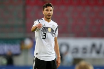KLAGENFURT, AUSTRIA - JUNE 02: Jonas Hector of Germany reacts during the International Friendly match between Austria and Germany at Woerthersee Stadion on June 2, 2018 in Klagenfurt, Austria. (Photo by Alexander Hassenstein/Bongarts/Getty Images)