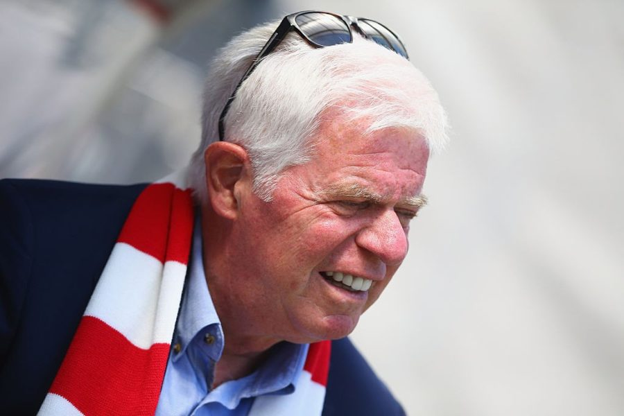 COLOGNE, GERMANY - AUGUST 02: Werner Spinner, president of Koeln looks on prior to the Colonia Cup 2015 match between 1. FC Koeln and FC Valencia at RheinEnergieStadion on August 2, 2015 in Cologne, Germany. (Photo by Christof Koepsel/Getty Images)