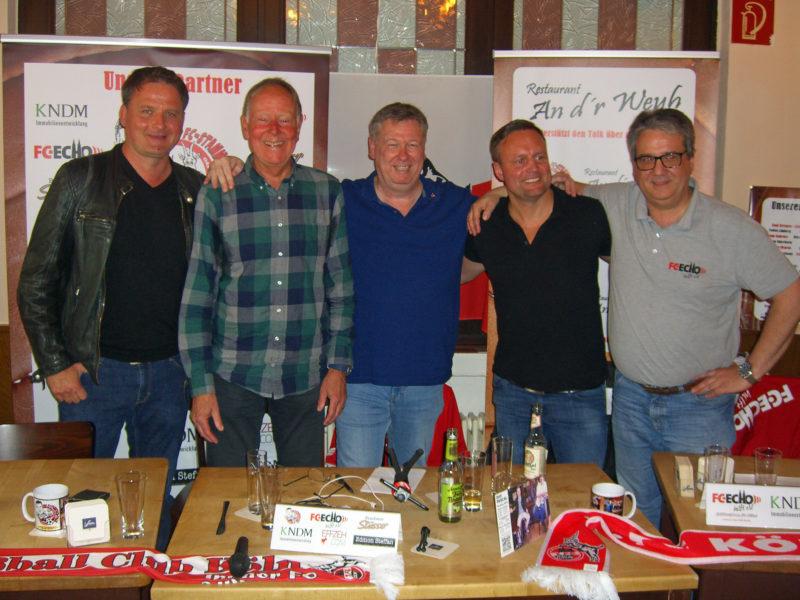FC-Stammtisch Talk mit Poschmann, Wagner, Werner und Tuchscherer