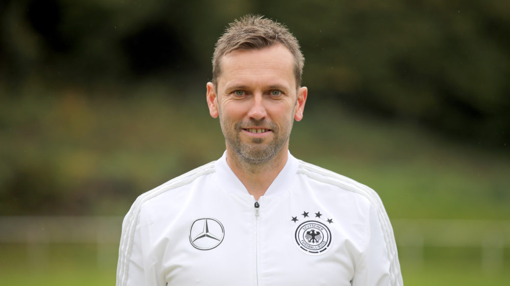HENNEF, GERMANY - OCTOBER 22: Andre Pawlak poses during a portrait session of the DFB Pro Licence Course at Sportschule Hennef on October 22, 2018 in Hennef, Germany. (Photo by Christof Koepsel/Bongarts/Getty Images)