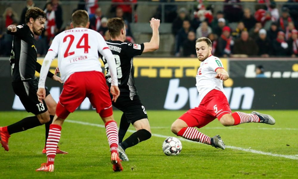 COLOGNE, GERMANY - DECEMBER 17: Rafael Czichos of Cologne in action during the Second Bundesliga match between 1. FC Koeln and 1. FC Magdeburg at RheinEnergieStadion on December 17, 2018 in Cologne, Germany. (Photo by Mika Volkmann/Bongarts/Getty Images)