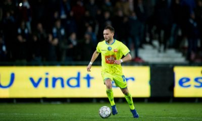 Gent's Birger Verstraete pictured in action during a soccer match between KV Kortrijk and KAA Gent, Sunday 27 January 2019 in Kortrijk, on the 23rd day of the 'Jupiler Pro League' Belgian soccer championship season 2018-2019. BELGA PHOTO JASPER JACOBS (Photo credit should read JASPER JACOBS/AFP/Getty Images)