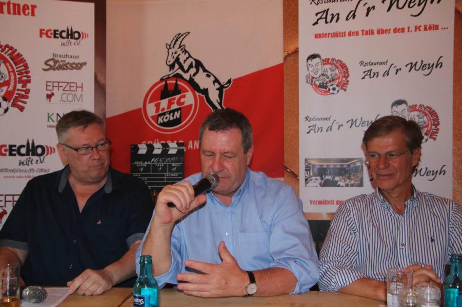 FC-Stammtisch Talk Wolf Sieger Sauren