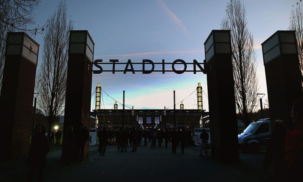 COLOGNE, GERMANY - NOVEMBER 22: General view of the RheinEnergieStadion prior to the Bundesliga match between 1. FC Koeln and Hertha BSC on November 22, 2014 in Cologne, Germany. (Photo by Alex Grimm/Bongarts/Getty Images)