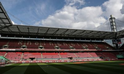 COLOGNE, GERMANY - APRIL 26: General view of Stadium prior to the Second Bundesliga match between 1. FC Koeln and SV Darmstadt 98 at RheinEnergieStadion on April 26, 2019 in Cologne, Germany. (Photo by Maja Hitij/Bongarts/Getty Images)