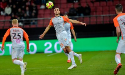 Montpellier's Tunisian midfielder Ellyes Skhiri tries to control the ball during the French L1 football match between Dijon (DFCO) and Montpellier (MHSC) on January 13, 2019, at the Gaston Gerard Stadium in Dijon, central-eastern France. (Photo by ROMAIN LAFABREGUE / AFP) (Photo credit should read ROMAIN LAFABREGUE/AFP/Getty Images)