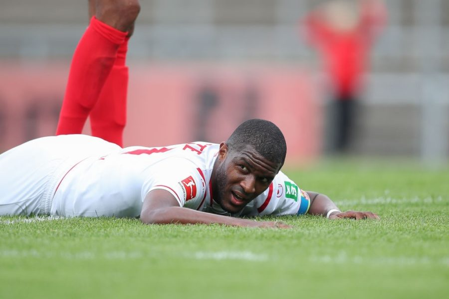 REUTLINGEN, GERMANY - JULY 14:Anthony Modeste of 1.FC Koeln reacts during the pre-season friendly match between SSV Reutlingen v 1. FC Koeln at Stadion an der Kreuzeiche on July 14, 2019 in Reutlingen, Germany. (Photo by Christian Kaspar-Bartke/Bongarts/Getty Images)