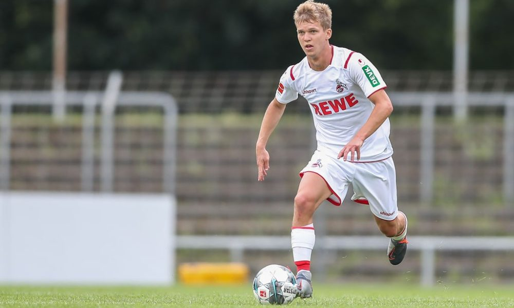 REUTLINGEN, GERMANY - JULY 14: Vincent Koziello of 1.FC Koeln in action during the pre-season friendly match between SSV Reutlingen v 1. FC Koeln at Stadion an der Kreuzeiche on July 14, 2019 in Reutlingen, Germany. (Photo by Christian Kaspar-Bartke/Bongarts/Getty Images)