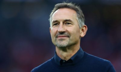 COLOGNE, GERMANY - SEPTEMBER 29: Achim Beierlorzer, Head Coach of 1. FC Koln looks on prior to the Bundesliga match between 1. FC Koeln and Hertha BSC at RheinEnergieStadion on September 29, 2019 in Cologne, Germany. (Photo by Dean Mouhtaropoulos/Bongarts/Getty Images)