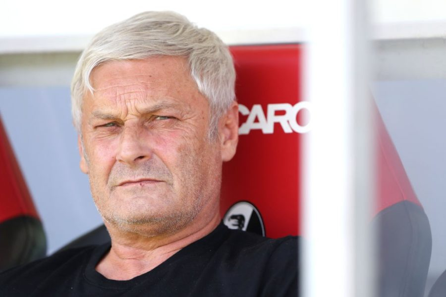 FREIBURG IM BREISGAU, GERMANY - AUGUST 31: Armin Veh, Sporting Director of FC Koeln looks on prior to the Bundesliga match between Sport-Club Freiburg and 1. FC Koeln at Schwarzwald-Stadion on August 31, 2019 in Freiburg im Breisgau, Germany. (Photo by Simon Hofmann/Bongarts/Getty Images)