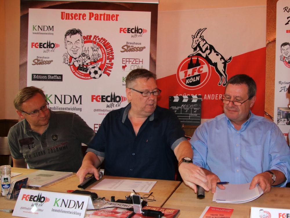 FC-Stammtisch Talk Sauren, Friedrichs, Wolf