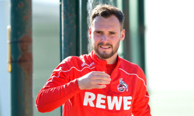 BENIDORM, SPAIN - JANUARY 08: (BILD ZEITUNG OUT) Birger Verstraete of 1. FC Koeln gestures during the 1. FC Koeln winter training camp on January 8, 2020 in Benidorm, Spain. (Photo by TF-Images/Getty Images)