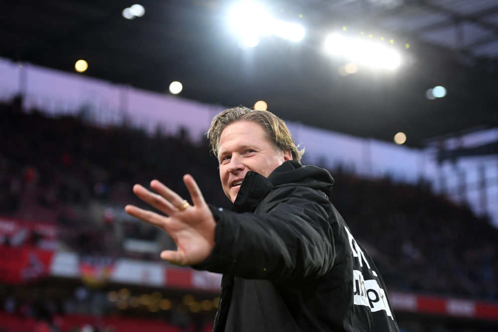 COLOGNE, GERMANY - FEBRUARY 29: Markus Gisdol, Head Coach of 1. FC Koeln looks on prior to the Bundesliga match between 1. FC Koeln and FC Schalke 04 at RheinEnergieStadion on February 29, 2020 in Cologne, Germany. (Photo by Jörg Schüler/Bongarts/Getty Images)