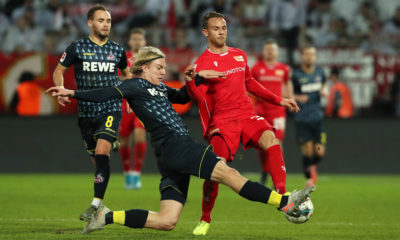 Sebastiaan Bornauw, Marcus Ingvartsen / Aktion / Spielszene / Zweikampf / / Fußball Fussball / DFL Bundesliga Herren / Saison 2019/2020 / 08.12.2019 / 1.FC Union Berlin FCU vs. 1.FC Köln / DFL regulations prohibit any use of photographs as image sequences and/or quasi-video. / *** Sebastiaan Bornauw, Marcus Ingvartsen Action Scene Football Football DFL Bundesliga Men Season 2019 2020 08 12 2019 1 FC Union Berlin FCU vs 1 FC Cologne DFL regulations prohibit any use of photographs as image sequences and or quasi video