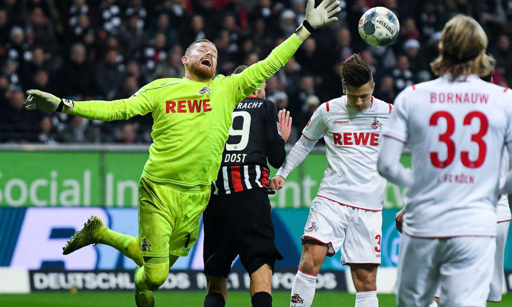 18.12.2019, xpsx, Fussball 1.Bundesliga, Eintracht Frankfurt - 1.FC Koeln v.l. Timo Horn 1. FC Koeln, Goncalo Paciencia Eintracht Frankfurt DFL/DFB REGULATIONS PROHIBIT ANY USE OF PHOTOGRAPHS as IMAGE SEQUENCES and/or QUASI-VIDEO Frankfurt *** 18 12 2019, xpsx, Football 1 Bundesliga, Eintracht Frankfurt 1 FC Cologne v l Timo Horn 1 FC Cologne , Goncalo Paciencia Eintracht Frankfurt DFL DFB REGULATIONS PROHIBIT ANY USE OF PHOTOGRAPHS as IMAGE SEQUENCES and or QUASI VIDEO Frankfurt