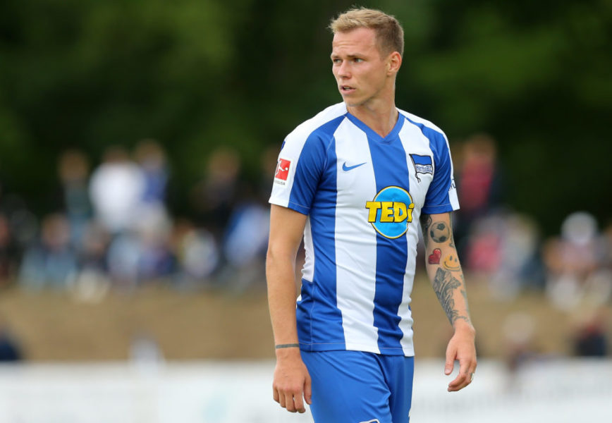 NEURUPPIN, GERMANY - JULY 07: Ondrej Duda of Berlin looks on during the pre-season friendly match between Hertha BSC and Eintracht Braunschweig on July 7, 2019 in Neuruppin, Germany. (Photo by Matthias Kern/Bongarts/Getty Images)