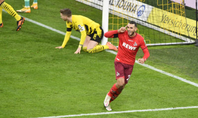 Fussball 1. Bundesliga / Borussia Dortmund - 1. FC Koeln Ellyes SKHIRI K jubelt nach seinem Tor zum 0:2, Fussball 1. Bundesliga Saison 2020/2021, 9.Spieltag, Spieltag09, Borussia Dortmund - 1. FC Koeln am 28.11.2020. DFL REGULATIONS PROHIBIT ANY USE OF PHOTOGRAPHS AS IMAGE SEQUENCES AND/OR QUASI-VIDEO.EDITORIAL USE ONLY. NO SECONDARY RE-SALE WITHIN 48h AFTER KICK-OFF. Nur fuer journalistische Zwecke National and International News Agencies OUT NO RESALE Foto:Frank Hoermann / SVEN SIMON / POOL Dortmund Signal-Iduna-Park NRW Deutschland *** Soccer 1 Bundesliga Borussia Dortmund 1 FC Koeln Ellyes SKHIRI K cheers after his goal for 0 2, Soccer 1 Bundesliga Season 2020 2021, 9 Matchday, Matchday09, Borussia Dortmund 1 FC Koeln am 28 11 2020 DFL REGULATIONS PROHIBIT ANY USE OF PHOTOGRAPHS AS IMAGE SEQUENCES AND OR QUASI VIDEO EDITORIAL USE ONLY NO SECONDARY RE SALE WITHIN 48h AFTER KICK OFF For journalistic purposes only National and International News Agencies OUT NO RESALE Photo Frank Hoermann SVEN SIMON POOL Dortmund Signal Iduna Park NRW Germany Poolfoto SvenSimon / POOL ,EDITORIAL USE ONLY