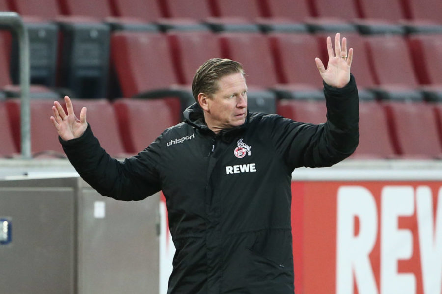 1.FC Köln vs. Hertha BSC Berlin, 16. Spieltag, 16.01.2021, 15.30 Uhr, Trainer Markus Gisdol 1.FC Köln, DFL REGULATIONS PROHIBIT ANY USE OF PHOTOGRAPHS AS IMAGE SEQUENCES AND/OR QUASI-VIDEO, Bild: *** Sport 1 FC Köln vs Hertha BSC Berlin, 16 Matchday, 16 01 2021, 15 30 Uhr, Coach Markus Gisdol 1 FC Köln , DFL REGULATES PROHIBIT ANY USE OF PHOTOGRAPHS AS IMAGE SEQUENCES AND OR QUASI VIDEO, Image