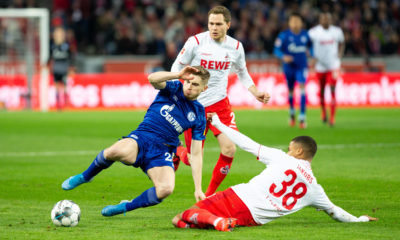 Fussball 1. Fussball Bundesliga, 1.FC Koeln -Schalke 04, 29.02.2020 Ismail Jakobs 1.FC Koelm, 38 Weston McKennie Schalke 04, Mittelfeld, 2 Fussball 1. Fussball Bundesliga, 1.FC Koeln -Schalke 04 am 29.02.2020 in der RheinEnergieStadion in Koeln Deutschland. *** Football 1 Football Bundesliga, 1 FC Koeln Schalke 04, 29 02 2020 Ismail Jakobs 1 FC Koelm, 38 Weston McKennie Schalke 04, midfield, 2 Football 1 Football Bundesliga, 1 FC Koeln Schalke 04 on 29 02 2020 in the RheinEnergieStadion in Cologne Germany Copyright: xBEAUTIFULxSPORTS/AndreasxDickx