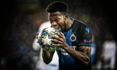 Club's Emmanuel Bonaventure Dennis looks dejected during a soccer game between Belgian team Club Brugge KV and Spanish Real Madrid CF, Wednesday 11 December 2019 in Brugge, the sixth and last match in the group stage of the UEFA Champions League, in Group A. BELGA PHOTO VIRGINIE LEFOUR (Photo by VIRGINIE LEFOUR/BELGA MAG/AFP via Getty Images)