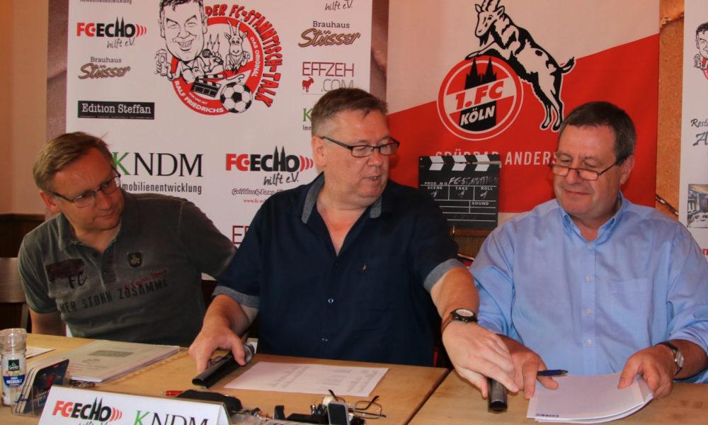 FC-Stammtisch Talk Eckhardt Sauren Ralf Friedrichs Werner Wolf