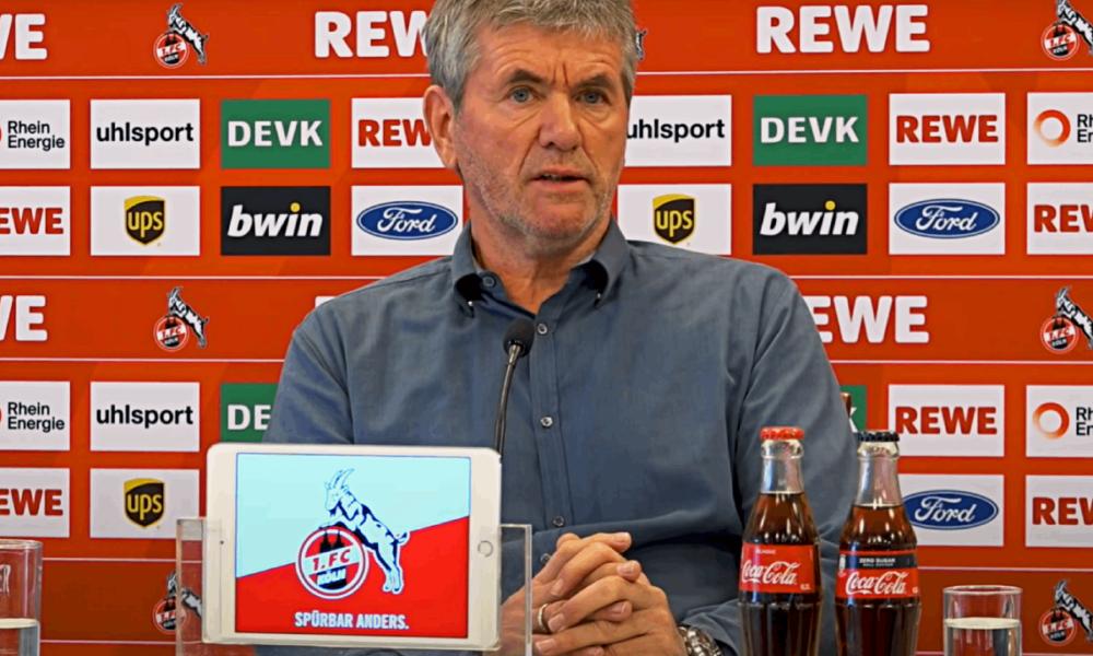 Friedhelm Funkel Pressekonferenz 1. FC Köln