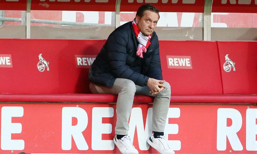 Köln vs. Leipzig 1.FC Köln vs. RB Leipzig, 30. Spieltag, 20.04.2021, 18.30 Uhr, Horst Heldt 1.FC Köln, Bild: *** Cologne vs Leipzig 1 FC Köln vs RB Leipzig, Matchday 30, 20 04 2021, 6 30pm, Horst Heldt 1 FC Köln , pic.