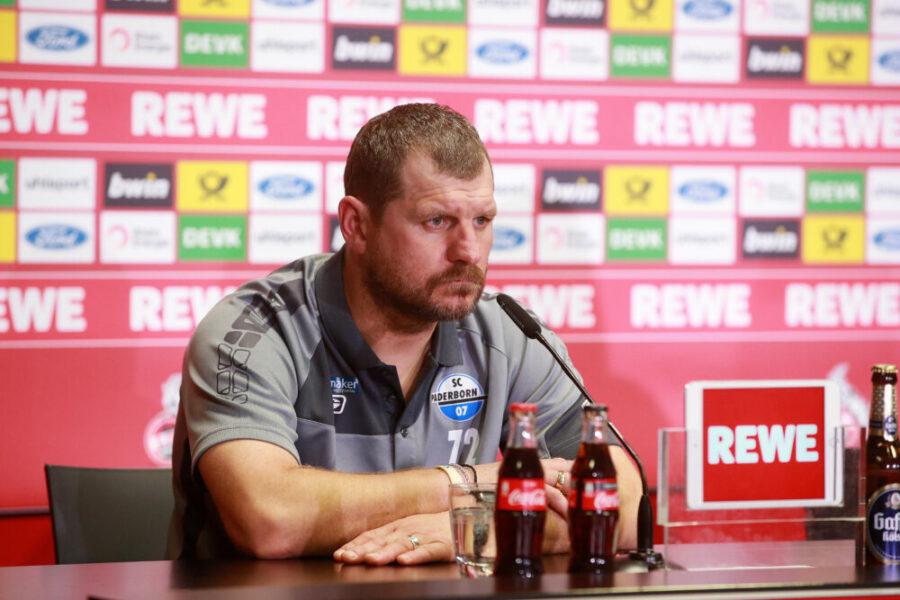 1.FC Köln vs. SC Paderborn 8. Spieltag 20.10.2019, 15.30 Uhr Pressekonferenz Trainer Steffen Baumgart SCP DFL REGULATIONS PROHIBIT ANY USE OF PHOTOGRAPHS AS IMAGE SEQUENCES AND/OR QUASI-VIDEO 20.10.2019 *** Sport 1 FC Cologne vs SC Paderborn 8 Matchday 20 10 2019, 15 30 Press conference Coach Steffen Baumgart SCP DFL REGULATIONS PROHIBIT ANY USE OF PHOTOGRAPHS AS IMAGE SEQUENCES AND OR QUASI VIDEO 20 10 2019